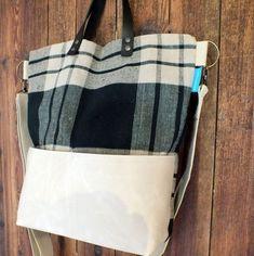 Check crossbody bag Crossbody Bag, Tote Bag, Leather Handle, Woven Fabric, Hardware, Shop, Check, Bags, Handbags