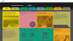Scottish Architecture website. Nice and playful!