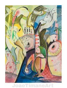 ÁFRICA   Pintura de João Timane. Artista plástico Moçambicano.   Fb: JoaoTimaneArt