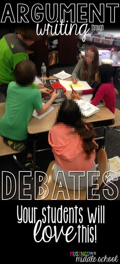 Blog post all about teaching argument writing!
