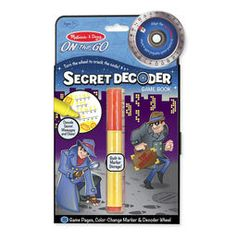 Melissa and Doug Secret Decoder Game Book - Toys and Games Ireland Travel Activities, Book Activities, Detective, Magic Revealed, Secret Game, Reading Themes, Mystery Games, Melissa & Doug, Game Sales