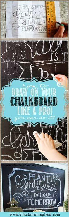 Kathryn Scraps: Easier DIY Chalkboard Art!