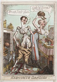 Cruikshank, Robert, 1789-1856, printmaker. Title: Exquisite dandies I.R. Cruikshank fecit & c. Published: [London] : Pubd. Decr. 8th, 1818 b...