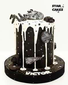 tarta Star Wars doble altura