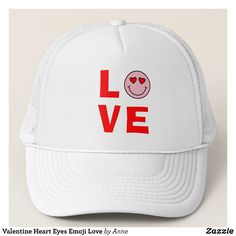 Valentine Heart Eyes Emoji Love Trucker Hat - Urban Hunter Fisher Farmer Redneck Hats By Talented Fashion And Graphic Designers - #hats #truckerhat #mensfashion #apparel #shopping #bargain #sale #outfit #stylish #cool #graphicdesign #trendy #fashion #design #fashiondesign #designer #fashiondesigner #style