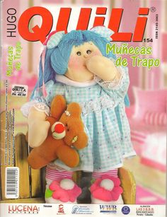 Revistas de Manualidades Para Descargar: Quili N°154 Muñecas de Trapo Crochet Dolls, Crochet Hats, Sewing Magazines, Magazine Crafts, Sewing Dolls, Felt Toys, Book Crafts, Craft Books, Softies
