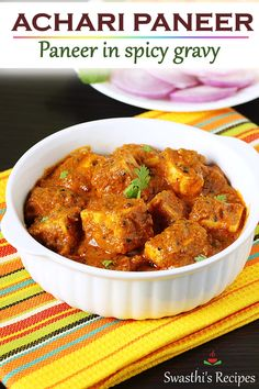 Ramadan Recipes 49891508359898408 - Spicy paneer curry in a slightly tangy, sweet and hot gravy with hints of pickle spices. This can be served with roti, paratha or flavored basmati rice. Source by swasthi Paratha Recipes, Paneer Recipes, Veg Recipes, Spicy Recipes, Curry Recipes, Vegetarian Recipes, Cooking Recipes, Healthy Recipes, Cooking Tips