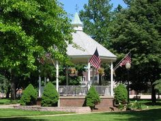 Bandstand in the park (Painesville, OH)