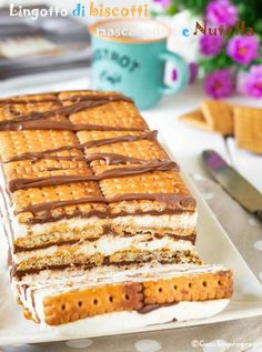 lingotto di biscotti is part of Desserts - Sweet Desserts, Sweet Recipes, Cake Recipes, Dessert Recipes, Biscotti, Torta Angel, Creme Brulee French Toast, Biscuit Bar, Bakery