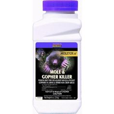 Bonide 697 Mole And Gopher Killer by Bonide. $7.21. Size: 8 Ounce. Moletox II. The mole and gopher killer protects lawns from unsightly mounds and ridges. Economical. 1 teaspoon treats an active burrow or tunnel. 2% Zinc Phosphide on cracked corn. Excellent bait acceptance.
