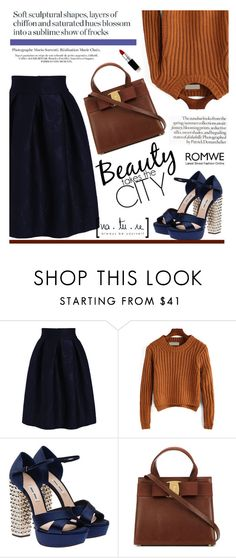 """""""Brown and blue"""" by mihreta-m ❤ liked on Polyvore featuring moda, Miu Miu, Anja, women's clothing, women's fashion, women, female, woman, misses y juniors"""
