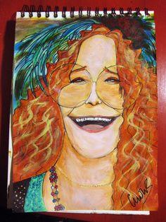 Janis Joplin by Montse Valero