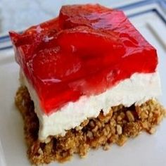 Strawberry Pretzel Salad: The most delicious dessert you'll eat all summer. http://www.squidoo.com/recipe-for-strawberry-pretzel-salad-the-most-delicious-dessert-you-ll-eat-all-summer#module159187687