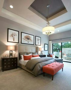 Neutral modern colors with a hint of burnt orange