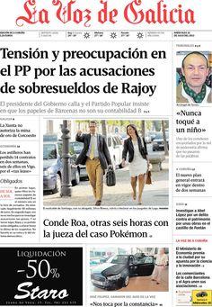 Los Titulares y Portadas de Noticias Destacadas Españolas del 10 de Julio de 2013 del Diario La Voz de Galicia ¿Que le parecio esta Portada de este Diario Español?