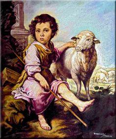El Buen Pastor. Bartolomé Esteban Murillo. 1987. Óleo sobre lienzo.