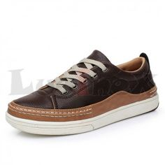 LuoineX Autumn/Winter Mens Lace Up Casual Leather Sneaker