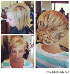 What an awesome job making it work with that short hair! Miss being in the salon.