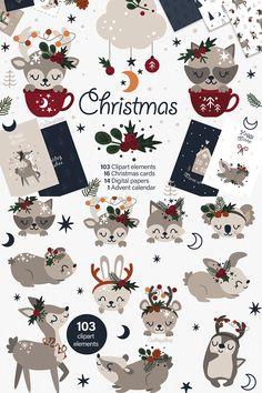 Christmas Tree Clipart, Christmas Signs, Christmas Cards, Xmas, Baby Illustration, Christmas Illustration, December Wallpaper, 1 Advent, Folk Print
