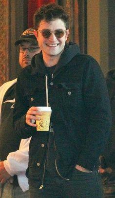 Robert Pattinson on Life set last week