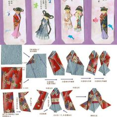 Classic Japanese paper doll origami.