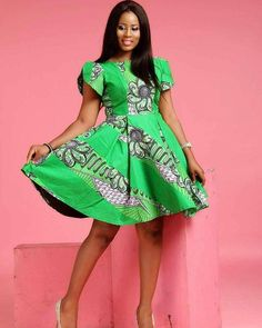 CREATIVE AND CUTE ANKARA FLARE GOWNS, Ankara styles Fashion Trends, Short Gowns.check out these latest african fashion trends we have lined up for you today. They look classic and absolutely gorgeous. Short African Dresses, Ankara Short Gown Styles, Short Gowns, Ankara Gowns, Latest African Fashion Dresses, African Print Dresses, Ankara Dress, African Print Fashion, Kente Styles