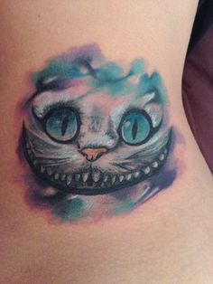 My Cheshire Cat tattoo :) on the inside of my elbow? xx
