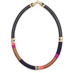 Lizzie Fortunato Double Take Tube Necklace