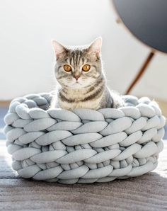 Giant Knit Cat Bed | Ohhio on Etsy