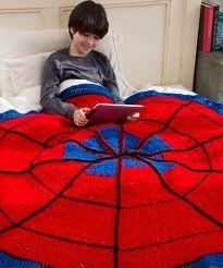 crochet spiderman blanket!