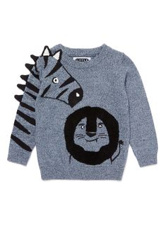Grey Zebra Jumper years) from Tu at Sainsbury's ! Your Online Shop for Boy's Jumpers & Hoodies Online Shopping For Boys, Animal Sweater, Baby Kids Clothes, Baby Sweaters, Kids Wear, Boy Fashion, Baby Knitting, Boy Outfits, Knitwear