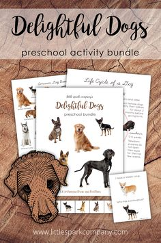 This 188 page bundle was created to complement your study of dogs with your 3-6 year old child(ren). It contains 14 interactive learning activities that your little spark will surely enjoy. Montessori Homeschool, Montessori Toddler, Dog Coloring Page, Colouring Pages, Preschool Math, Learning Activities, Dog Match, Dog Anatomy, Lacing Cards