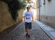 When you want to be cool you don't need a tattoo piercing or anything else... You have to have it in your heart.  Big thanks to @hrenakvision . . . . #me #cool #walk #photography #prague #summer #sunglasses #sun #shorts #tshirt #streetstyle #street #model #modeling #saturday #weekend #followme #photooftheday #awesome #famous #feeling #serious #business #woulddoitagain