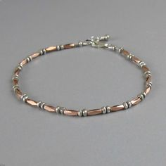 Delicate Tiny Faceted Rose Gold 970 Fine Silver Bead by DJStrang, $57.00