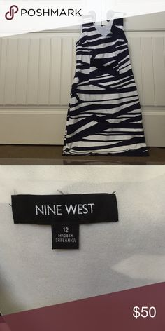 Brand New Nine West Dress Way cute! Fits to the body in all the right places. Never been worn. The pattern is so cute! Nine West Dresses