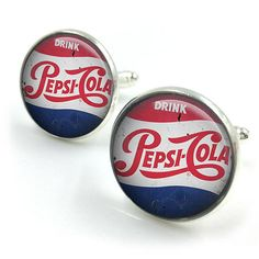 Vintage Pepsi Cola Cufflinks Coke Pepsi groomsmen gift