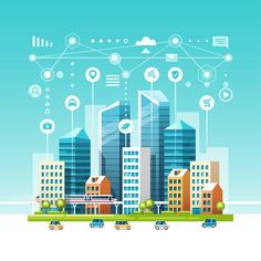 How smart cities are using data to pave the way for autonomous vehicles Photography Illustration, City Illustration, Campus Map, Eco City, City Logo, Abstract City, Smart City, Architecture Drawings, City Buildings
