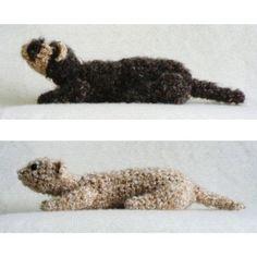 Fuzzy Ferret amigurumi PDF CROCHET PATTERN - LoveItSoMuch.com