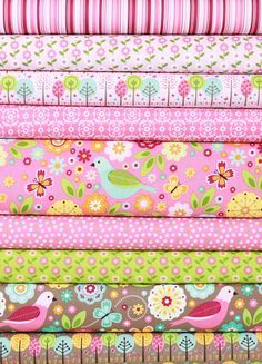 Zoe Pearn for Riley Blake, Summer Song 2, Flower in FAT QUARTERS 9 Total