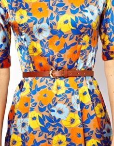 Fall Dress 2013 ASOS Soft Wiggle Dress In Floral Print With Belt