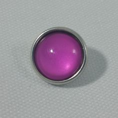 1 PC - 12MM Light Purple Glass Dome Silver Charm for Candy Snap Jewelry Limited Edition CC0063