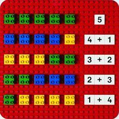 de gefä… Here you can see a game idea from LEGO® Duplo, which we like from BRICKaddict.de: A LEGO® Duplo addition board for learning the 1 + Montessori Math, Homeschool Kindergarten, Preschool Learning, Teaching Math, Maria Montessori, Montessori Education, Lego Math, Lego Duplo, Math For Kids