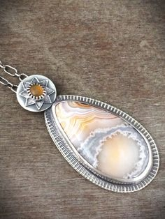 Crazy lace agate necklace - opal necklace - teardrop necklace - natural stone - boho - unique