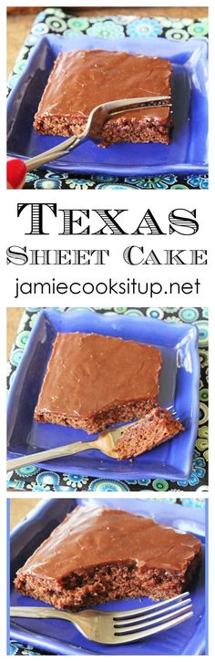 This wonderful Texas Sheet Cake is bursting with chocolate flavor, is easy to prepare and will feed a crowd. Perfect for parties of all kinds.