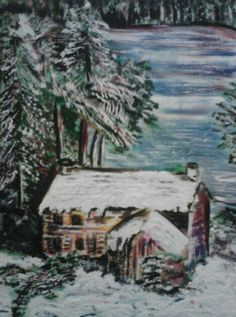 My acrylic painting of The Stone House, in Salt Fork-Cambridge  Ohio