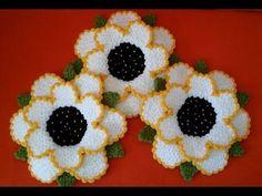 Dört Boyutlu Çiçek Lifi Anlatımlı baştan sona - YouTube