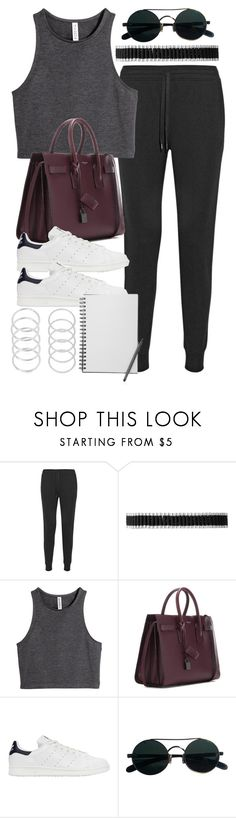 """Style #11099"" by vany-alvarado ❤ liked on Polyvore featuring T By Alexander Wang, Links of London, H&M, Yves Saint Laurent and adidas Originals"