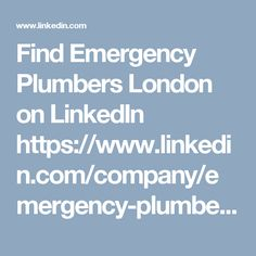 Find Emergency Plumbers London on LinkedIn https://www.linkedin.com/company/emergency-plumbers-london Emergency Plumbers London are highly recommended plumbers in London. 24 Hour Emergency Plumber. Fast. Reliable. Services include boiler repair, installation and replacement.  Emergency Plumbers London  Kemp House 152 City Road London EC1V 2NX 020 3514 3135  helpdesk@emergencyplumberslondon.org  http://emergencyplumberslondon.org