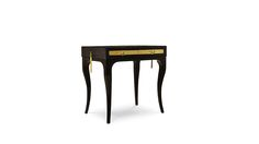 Bedside Table EXOTICA by Koket modern lighting black and gold loghting, 2015 home decor trends, bedroom design ideas
