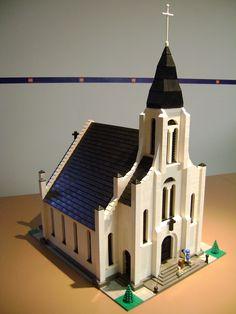 Church Hama Beads Minecraft, Perler Beads, Table Lego, Art Hama, Lego Bedroom, Lego Boards, Lego System, Lego Modular, Lego Castle